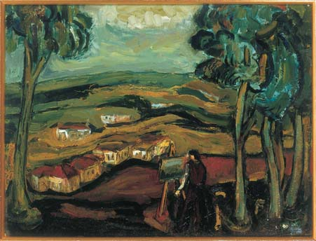 Landscape with Painter and Easel (Zichron Ya