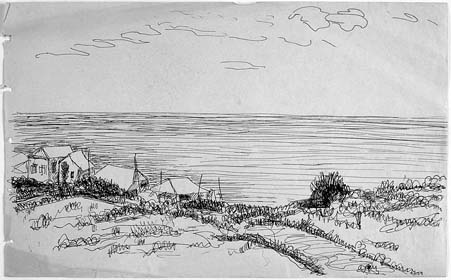 Landscape with sea