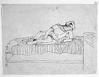 Woman Reclining and Reading